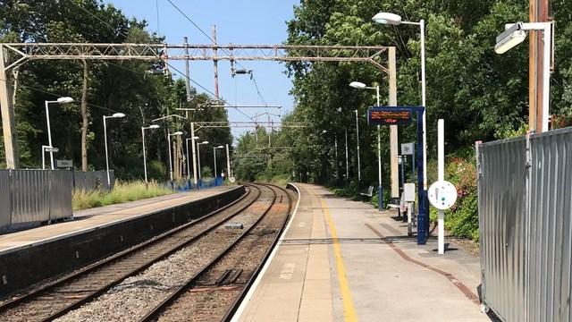 Platform at Kidsgrove station taken July 2019