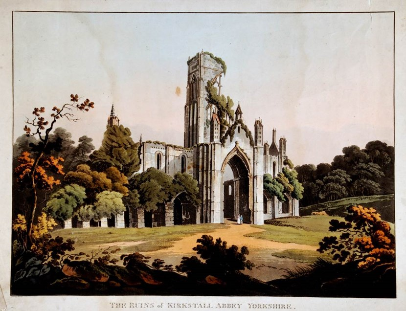 Chance to celebrate city's heritage at Yorkshire Day history fayre: ruinsofkirkstallabbeythomashearne1813.jpg