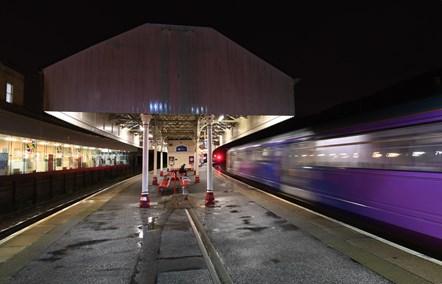 Northern train at Halifax station