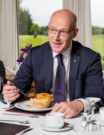 John Swinney has lunch with vulnerable young offenders: Photographs©John Young / YoungMedia.co.uk
