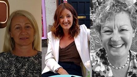 Women in Rail Award Shortlisted Candidates - Karen Paton, Emily Hall and Caroline Donaldson