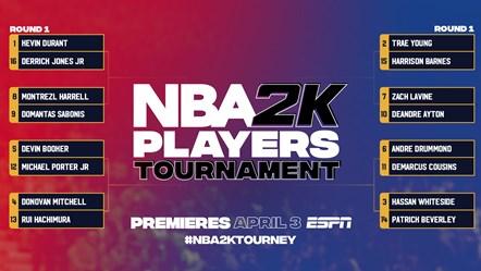 NBA 2K Players Tournament Bracket