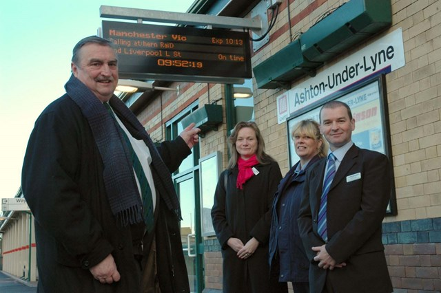 Ashton station information screens: l-r