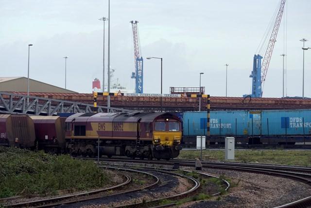 Freight train at Humber International Terminal
