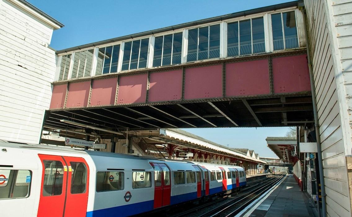 Multi-million-pound Harrow and Wealdstone footbridge transformation underway: Harrow and Wealdstone station footbridge May 2019