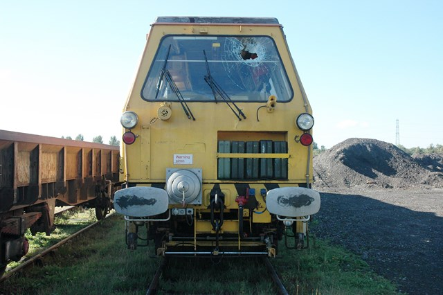 Damage caused after boy throws brick at moving train in Beswick, Manchester
