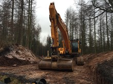 Building access road at Eden Brows land slip site