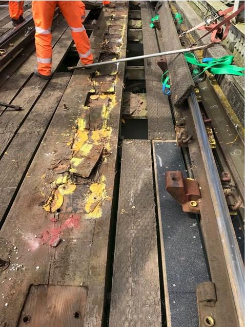 Manea bridge timber decking