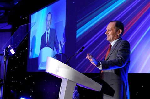 Network Rail chief executive, Iain Coucher at the Partnership Awards
