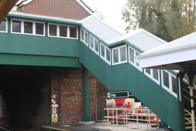 New £1.8m footbridge opens at Eridge station in East Sussex: The new footbridge at Eridge station