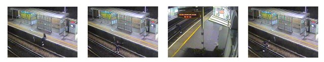 """PICTURES and VIDEO: """"Just don't take a chance"""" – bereaved mother's appeal to stay safe around the railway this Christmas in Kent and Sussex: CCTV - West Worthing"""