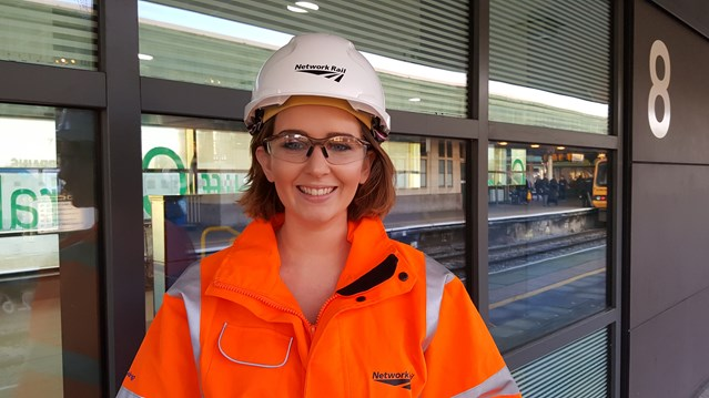 Network Rail's 'orange army' will be working day and night in Cardiff and across the Valleys this festive season to deliver Railway Upgrade Plan: Zoe O'Brien
