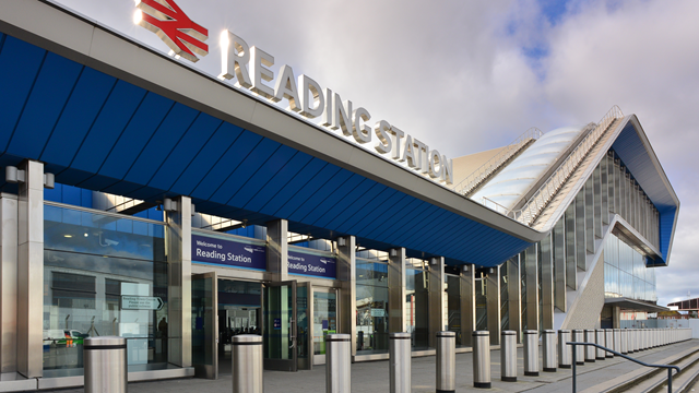 Station staff prepare for high volumes of festivalgoers to pass through Reading station this bank holiday: Reading train station (front)