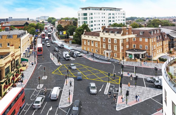 TfL Press Release - TfL moves forward with plans for major new cycle route in west London: TfL Image - Kew Bridge