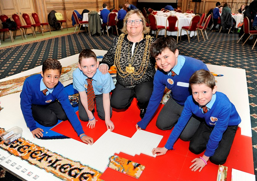 Lord Mayor's Lego Crest fundraising challenge given helping hand from city school children: immaculateheart1.jpg