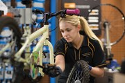 Halfords Image - A cycling technician at Halfords