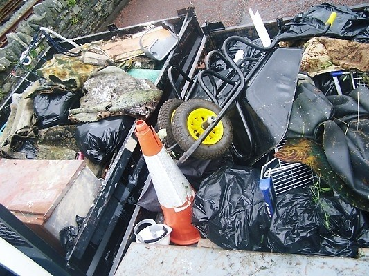 Blaenau Ffestiniog Clean Up: Litter collected by Network Rail maintenance staff