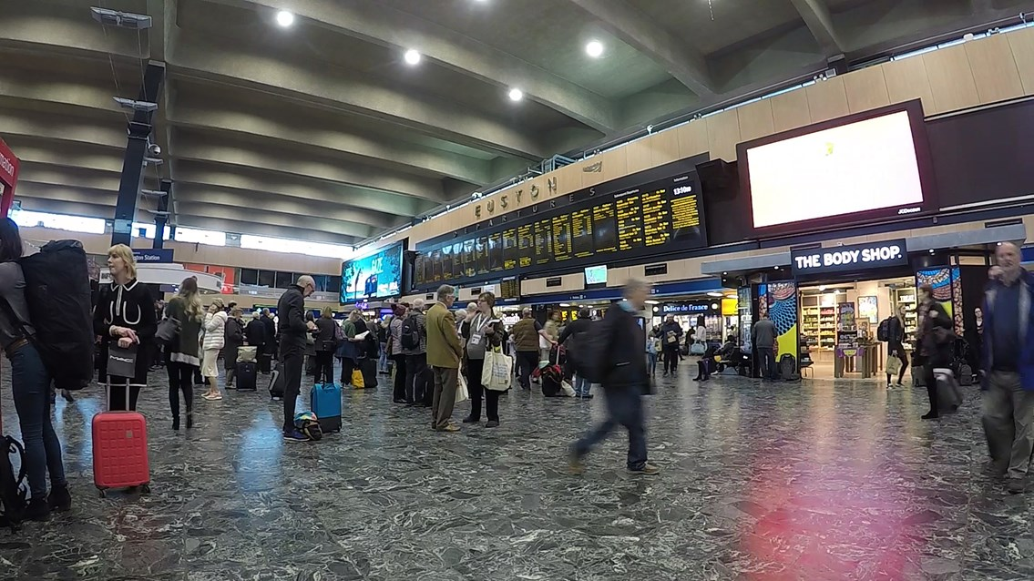 Euston station concourse February 2019