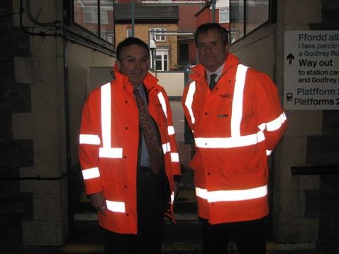 Andrew Davies with Robbie Burns