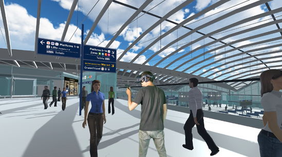 Virtual Reality brings HS2 station to life years ahead of opening: HS2 Greenscreen 2