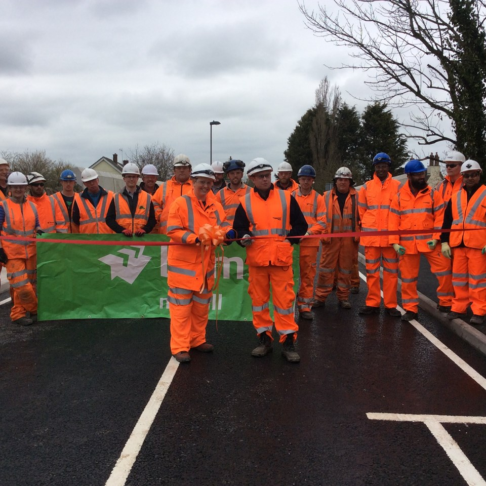 Stunning time-lapse film shows the reconstruction of Harcombe Hill bridge in Winterbourne: Harcombe Hill bridge opening