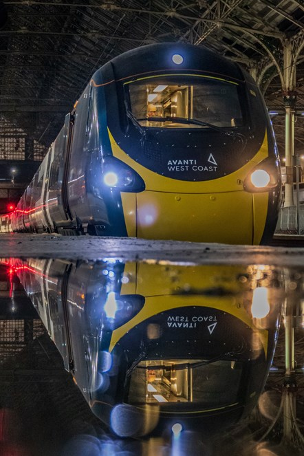 Pendolino - Reflection - Preston station -: Credit RailAdvent