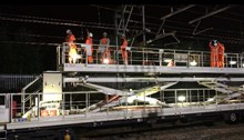 GNRP Wigan to Manchester weekend closures overhead electrical work