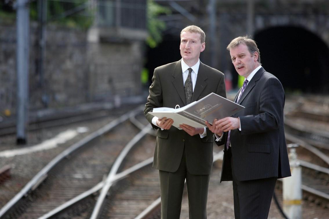 Airdrie-Bathgate Railway Bill: Transport Minister, Tavish Scott and Network Rail's Director, Scotland, Ron McAulay discuss the new railway Bill