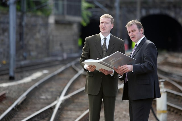 Airdrie-Bathgate Railway Bill: Transport Minister, Tavish Scott and Network Rail's Director, Scotland, Ron McAulay discuss the new railway Bill