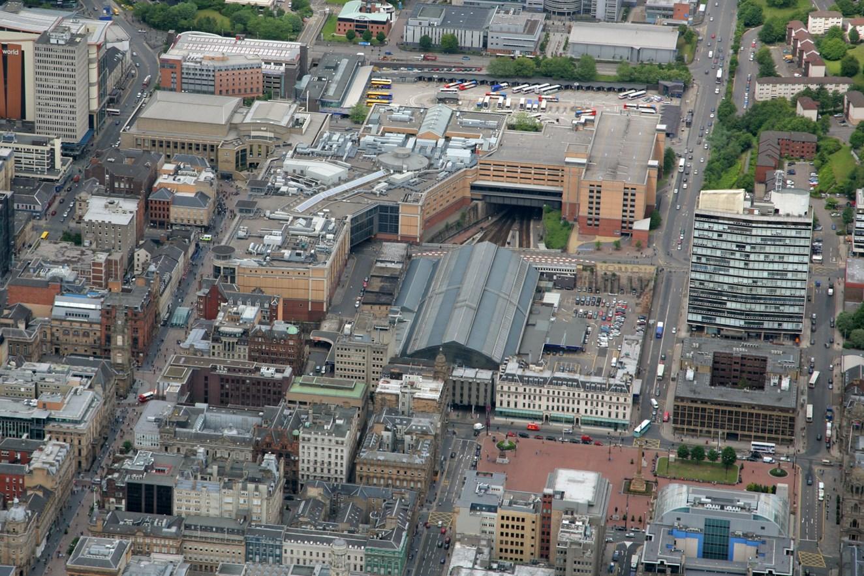 Glasgow Queen Street - aerial view