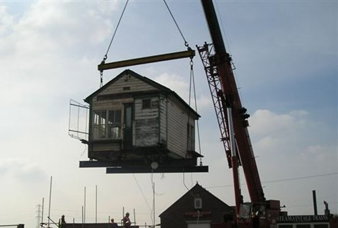 Hademore Signal Box on the move