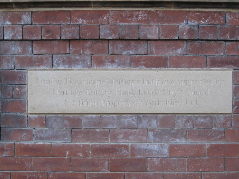 Grant scheme rediscovers Armley's heritage  : 2branchroadunveiledplaque.jpg