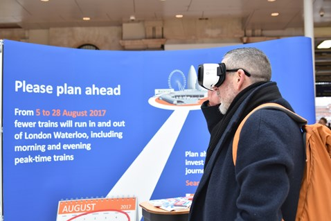 Passengers were given the opportunity to experience the new station at Waterloo in Virtual Reality (1)