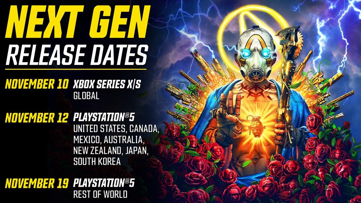BL3 Next-Gen Release Dates