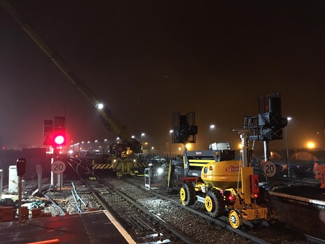 Residents and passengers thanked as railway upgrade work between Swansea and Port Talbot is completed: Port Talbot resignalling work