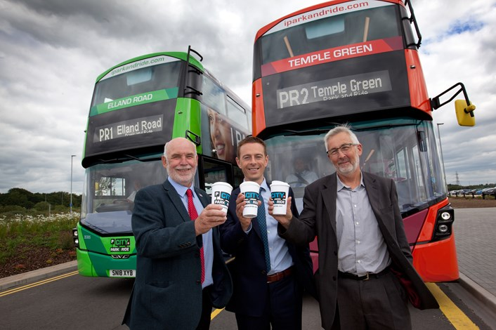New hybrid electric buses added to successful Leeds park and ride  : r-lcllrfirthmartinhirstfirstwestyorkshirecllrlewis.jpg