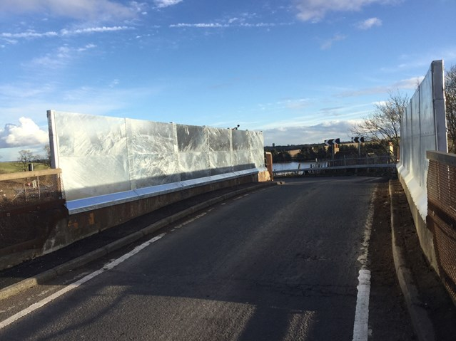 Crosshill Road bridgeworks completed: Crosshill Road Parapet work completed near Lenzie