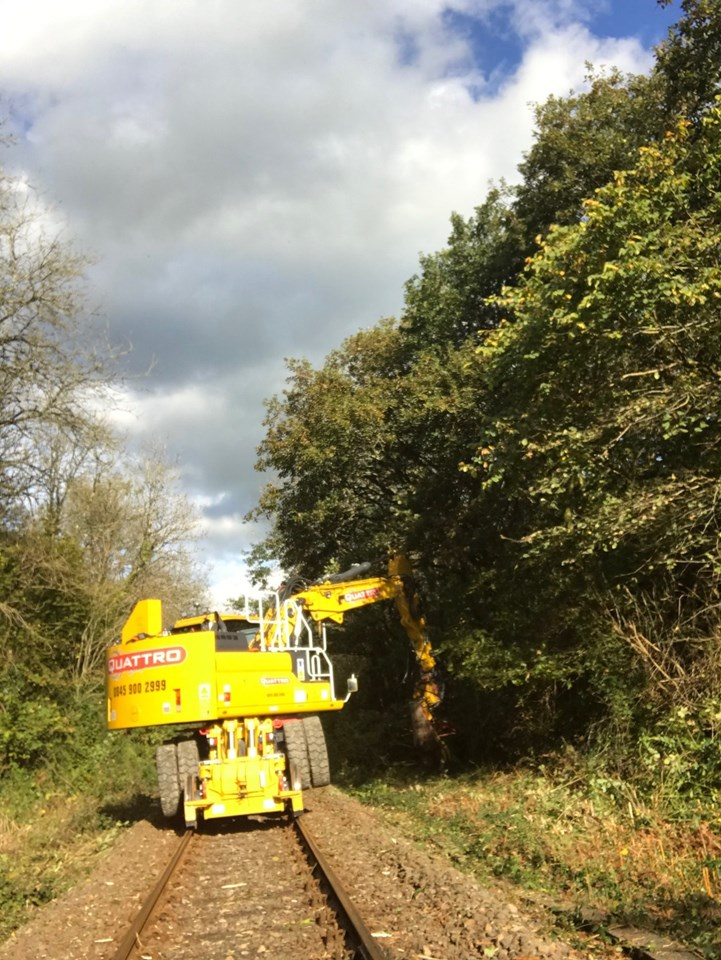 Railway between Fishguard Harbour and Clabeston Road update: Vegetation Management West Wales 1-2