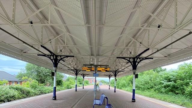 Walkden station canopy centre