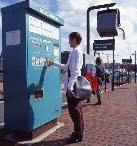 Original Metrolink ticket machine