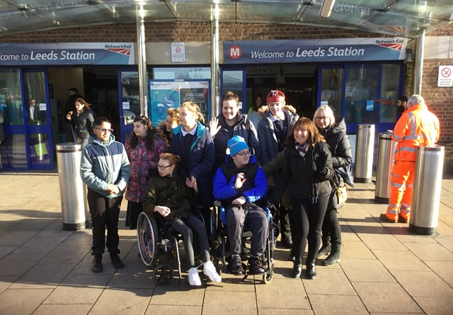 Network Rail holds educational visits for students with additional needs at Leeds station: Network Rail holds educational visits for students with additional needs at Leeds station