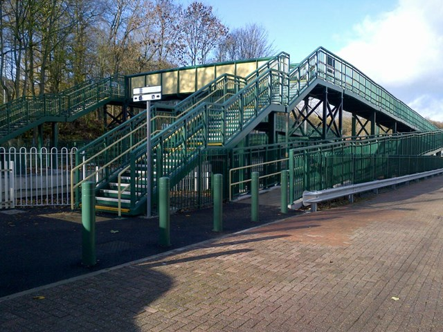The new bridge at Chirk station