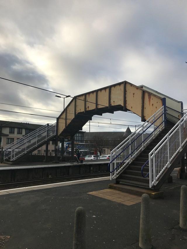 Saltcoats footbridge before Hi Res