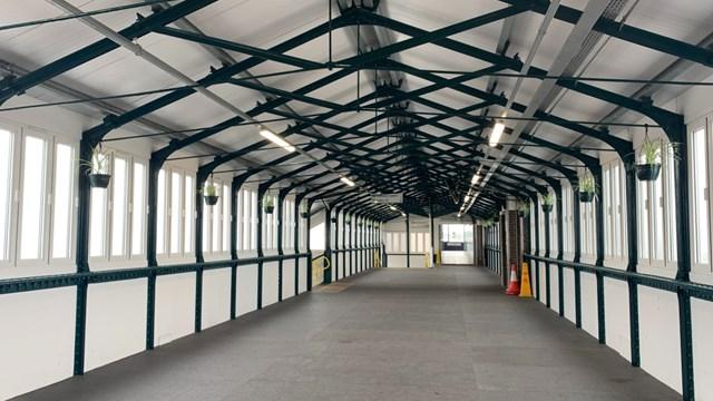 Inside Nuneaton station's revamped footbridge