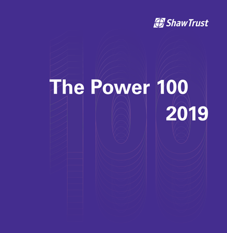 RDG accessibility expert named in Disability Power List 100: Shaw Trust Power 100 2019 logo