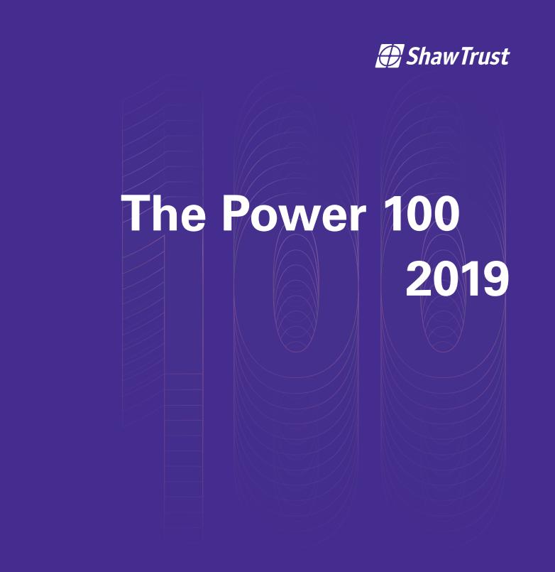 Shaw Trust Power 100 2019 logo