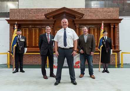 Northern hosts a rededication and unveiling of a long-lost war memorial at Newton Heath train maintenance depot.: 45-2