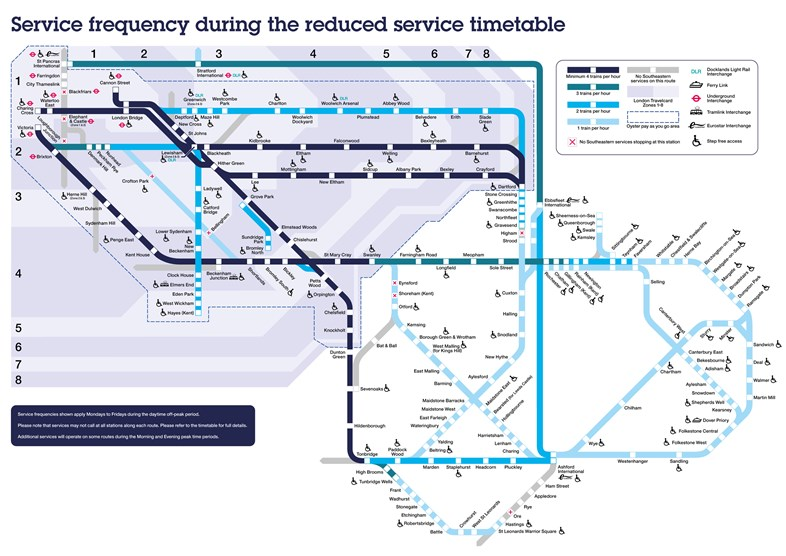 Coronavirus travel update: Reduced service timetable: Reduced-Service-Map-2880