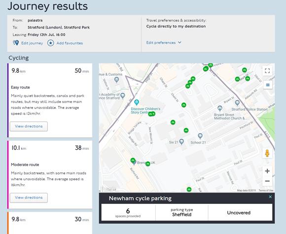 TfL Image - Journey Planner