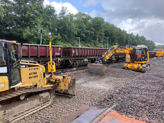 Main lines to holiday hotspots open for business this Bank Holiday – but passengers encouraged to check before they travel in parts of South West London and Surrey: Weybridge track renewals 5